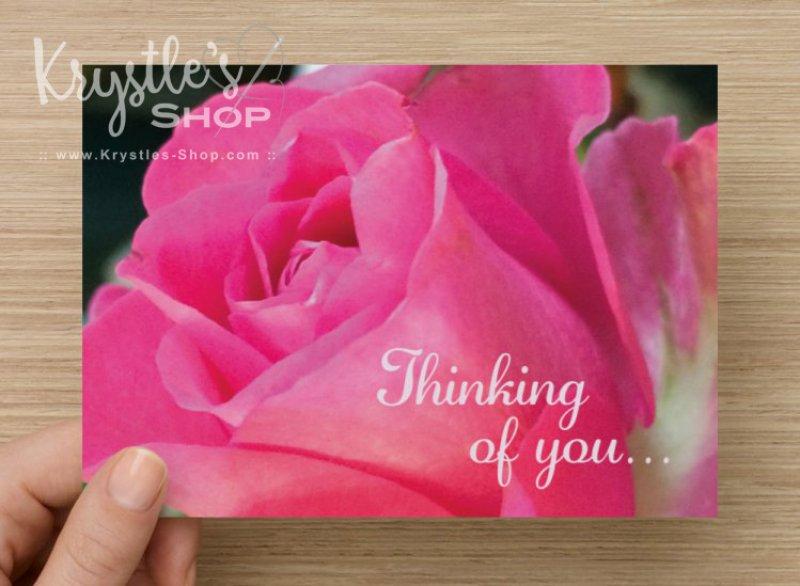 "Postkarte ""Thinking of you..."""